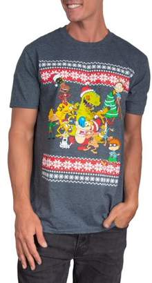 Holiday Nickelodeon Group Men's Short Sleeve Graphic Tee, Up to size 2XL