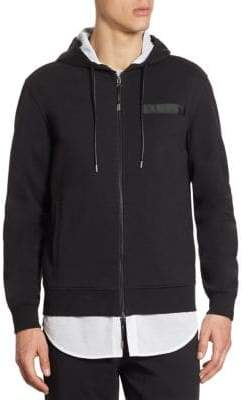 Madison Supply Zip-Up Mesh Trimmed Hoodie