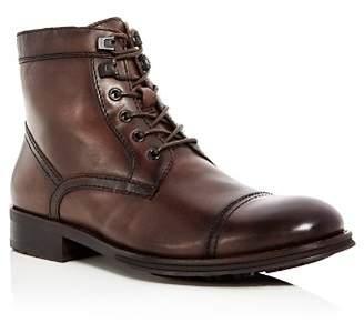 Kenneth Cole Men's Design Leather Cap Toe Boots - 100% Exclusive
