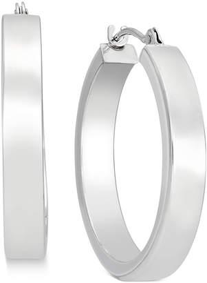 Macy's Bold Hoop Earrings in 10k White Gold