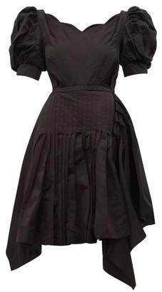 Preen by Thornton Bregazzi Felixa Scalloped Silk Charmeuse Dress - Womens - Black
