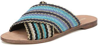 Diane von Furstenberg Cindi Leather Woven Slide Sandals