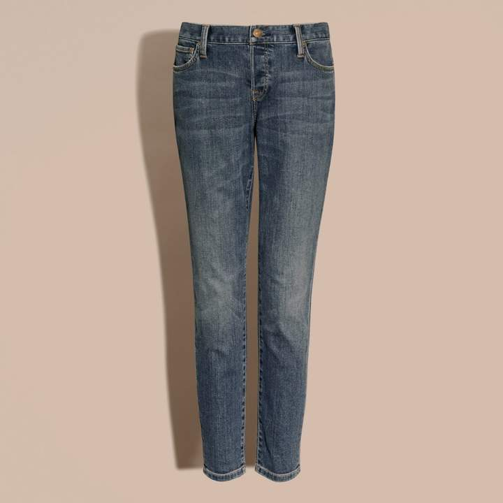 Burberry Relaxed Fit Mid-Indigo Jeans