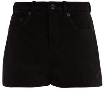 Saint Laurent Corduroy Mini Shorts - Womens - Black