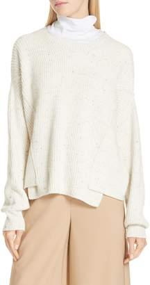 Vince Wool Cotton Cashmere Overlap Sweater