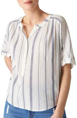 Whistles Paula Striped Shirt