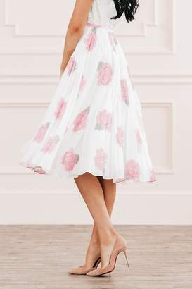 Rachel Parcell Peony Blossom Pleated Skirt