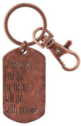 Karma Star Dust Dog Tag Keychain, Heart
