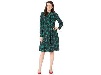 07467febb3 Lauren Ralph Lauren Belted Georgette Shirtdress