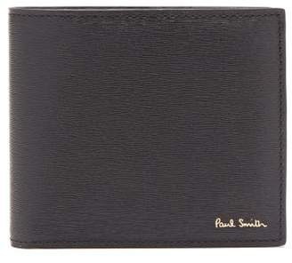 Paul Smith Foiled Logo Grained Leather Bi Fold Wallet - Mens - Black