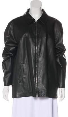 Burberry Long Sleeve Leather Jacket