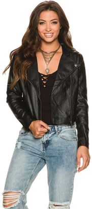 Rvca Watney Moto Faux Leather Jacket $98.95 thestylecure.com