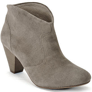 Steven by Steve Madden - Pembrook - Taupe Suede Ankle Bootie
