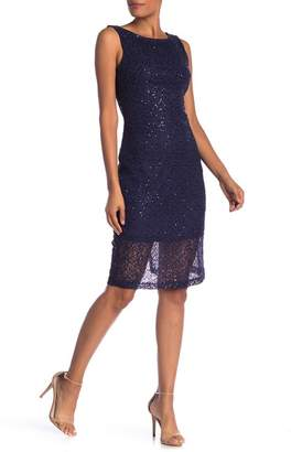 Marina Sequin Lace Midi Dress