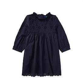 Polo Ralph Lauren Eyelet Cotton Dress(2-7 Years)