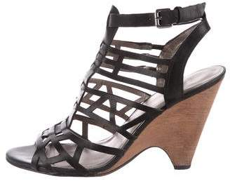 Belle by Sigerson Morrison Leather Caged Sandals