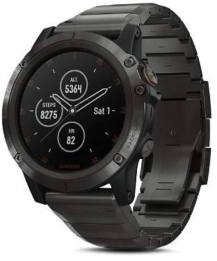Garmin fenix® 5X Plus Sapphire Premium Multisport GPS Smartwatch with Titanium Strap, 51mm