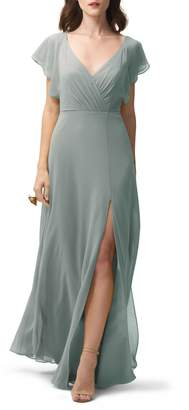 Jenny Yoo Alanna Open Back Chiffon Gown