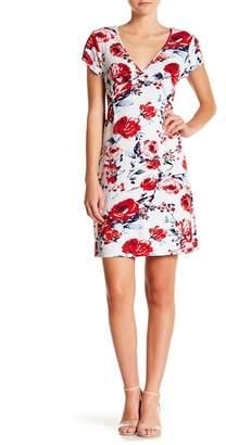 Loveappella V-Neck Flounce Sleeve Dress