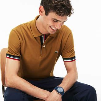 Lacoste Men's Slim Fit Piped Two-Ply Cotton Petit Piqué Polo
