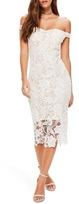 Women's Missguided Lace Bardot Dress $93 thestylecure.com