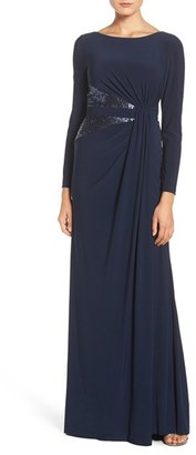 Women's Adrianna Papell Sequin Jersey Gown $179 thestylecure.com
