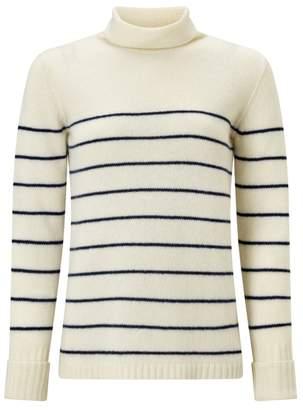Jigsaw Junko Stripe Cashmere Polo