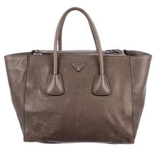 Prada Large Cervo Double-Zip Tote