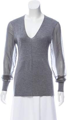 Reed Krakoff Cashmere-Blend Knit Top