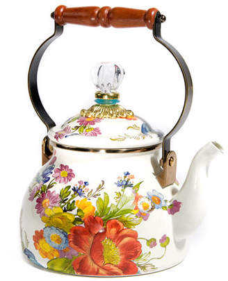 Mackenzie Childs MacKenzie-Childs Flower Market White Two-Quart Tea Kettle