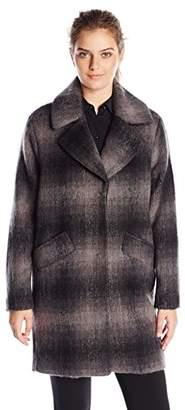 Marc New York by Andrew Marc Women's Emma Brushed Wool Plaid Coat $38.74 thestylecure.com