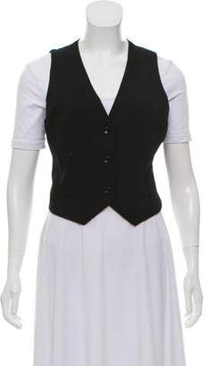 Dolce & Gabbana Lace-Paneled Fitted Vest