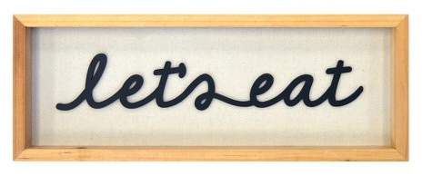 Let's Eat Framed Art 14x5