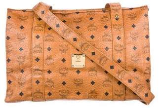 MCM Visetos Leather Tote