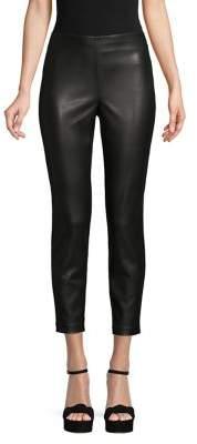 DKNY Pleather & Ponte Crop Pants
