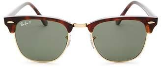 Ray-Ban Unisex Polarized Classic Clubmaster Sunglasses, 49mm