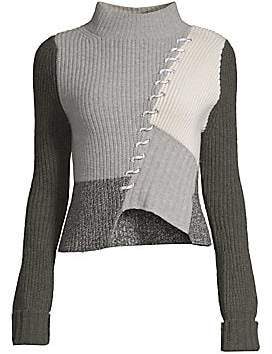 Zoa Zoë Jordan Zoë Jordan Women's Kelly Colorblock Wool& Cashmere Sweater
