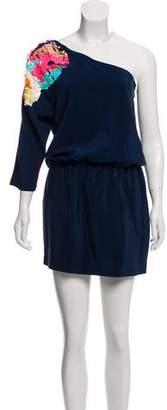 Tibi Embellished One-Shoulder Dress w/ Tags