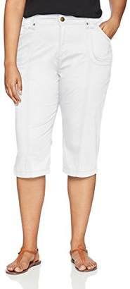 Lee Women's Plus-Size Relaxed Fit Lyric Knit Waist Cargo Capri Pant