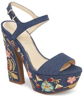 Jessica Simpson Divella Embroidered Platform Sandal