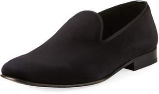 Jared Lang Men's Formal Velvet Slipper Shoes