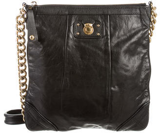 Marc JacobsMarc Jacobs Push-Lock-Embellished Leather Crossbody Bag