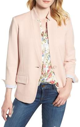 Olivia Moon Cotton Blend Knit Blazer (Regular & Petite)