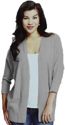 Leo & Nicole Womens 3/4 Sleeve Cardigan Sweater