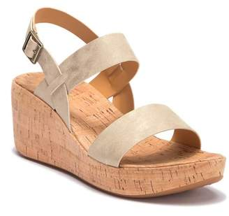 KORKS Tome Leather Wedge Sandal