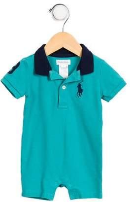 Ralph Lauren Boys' Short Sleeve Polo All-In-One
