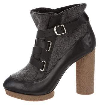 Loeffler Randall Buckle Platform Ankle Boots
