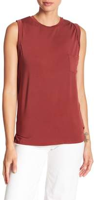 David Lerner Crew Neck Pocket Muscle Tee