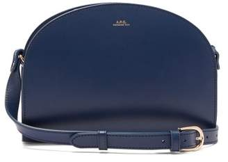 A.P.C. Half Moon Leather Cross Body Bag - Womens - Blue Navy