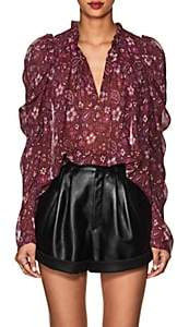 Ulla Johnson Women's Renly Floral & Paisley Silk Blouse - Purple